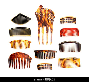 Vintage combs collection - Stock Image