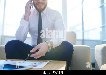 Busy trader - Stock Image