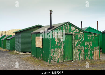 Green sheds - Stock Image