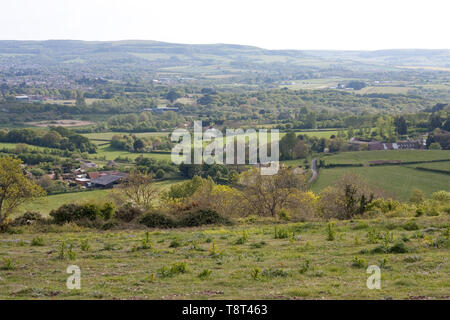View from Brading Down viewpoint, Isle of Wight - Stock Image