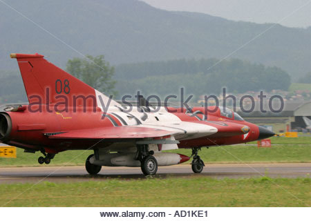 Zeltweg 2005 Airpower 05 airshow Austria Draken on runway - Stock Image