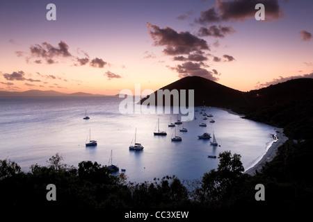 Caribbean, British Virgin Islands, Jost Van Dyke, White Bay - Stock Image