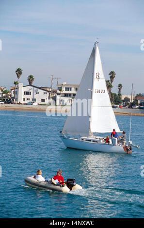 California Oxnard Channel Islands Harbor boats - Stock Image