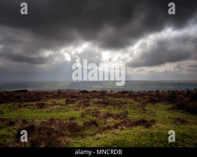 Storm over Lorna Doone country, Exmoor National Park - Stock Image