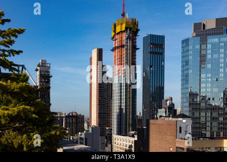 Highrise Condos Under Construction, No Mad, NYC, USA - Stock Image