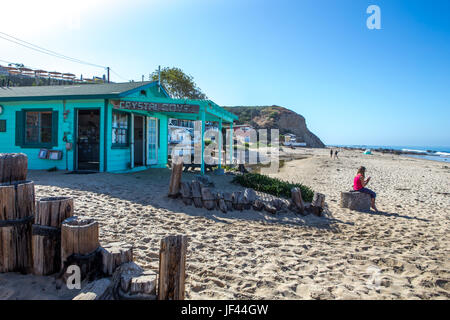 Crystal Cove Beach historical district  State Park California USA - Stock Image