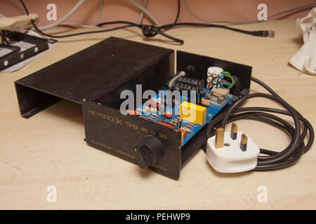 TPS electronic speed control upgrade for Heybrook record turntable - Stock Image