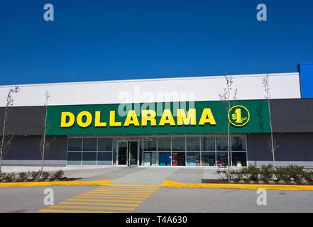 Dollarama store in Metro Vancouver, Canada. - Stock Image