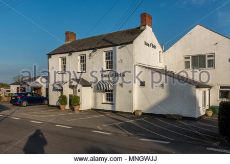 Exterior of the Ring o'Bells, a public house in the village of Ashcott near Glastonbury, Somerset, UK - Stock Image