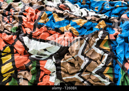 Abstract colorful on cement background, paint color pattern texture concept. - Stock Image