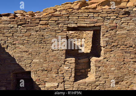T-shaped doorway, Pueblo Bonito, Chaco Canyon, Chaco Culture National Historical Park, New Mexico, USA 180926_69529 - Stock Image