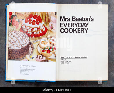 Mrs Beetons Everyday Cookery Book - Stock Image