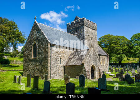 St Cadoc's Church at Cheriton on the Gower Peninsula, south Wales - Stock Image