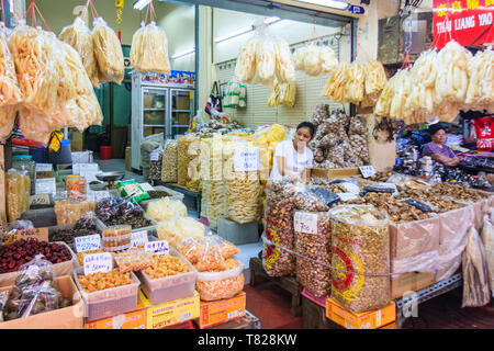 Bangkok, Thailand - April 21st 2011. Shop selling dried foods. Chinatown has many such shops - Stock Image