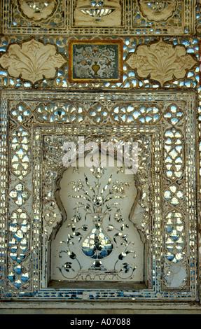 Sheesh Mahal, Amber Fort, Rajasthan, India - Stock Image