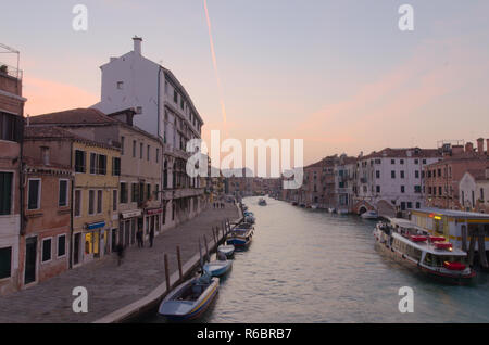 The grand canal in Venice in the early morning - Stock Image