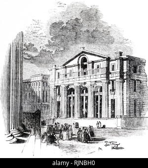 An engraving depicting the Manchester branch of the Bank of England. Dated 19th century - Stock Image