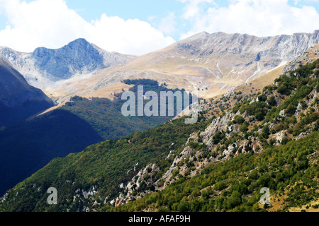 In the Mountains of the Sibillini National Park Le Marche Italy - Stock Image