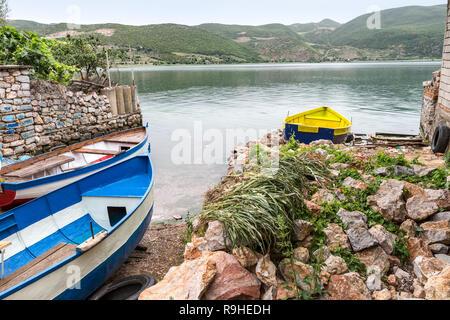 Lin village Lake Ohrid Prespa  Albania - Stock Image