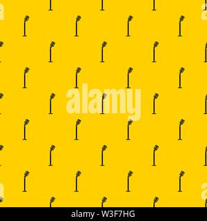 Microphone on stand pattern vector - Stock Image