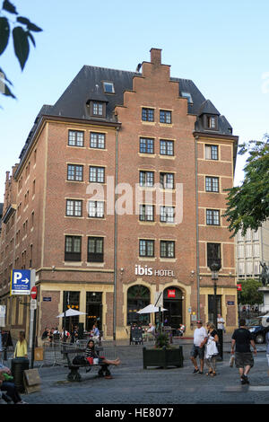 The Ibis Hotel in the Centre of Brussels, Belguim. - Stock Image