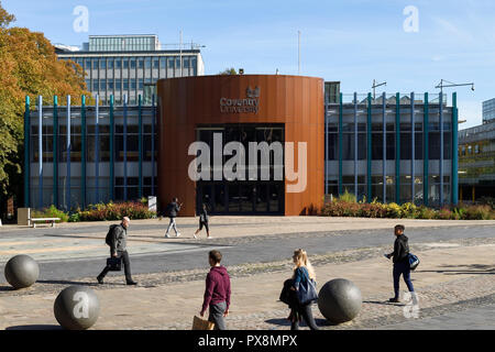 The Coventry University Alan Berry building on University Square in Coventry city centre UK - Stock Image