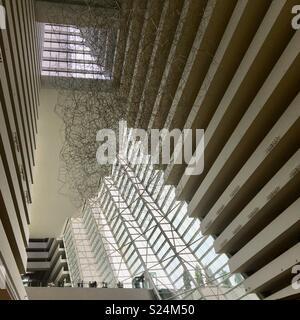 Foyer of Marina Bay Sands Hotel in Singapore - Stock Image