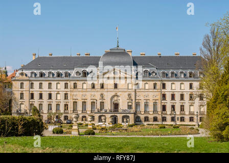 Princely Fuerstenberg Palace in Donaueschingen, since the 18th Century the residence of the Princes of Fürstenberg. - Stock Image
