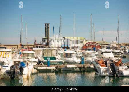 The Mississippi Steam Boat 'Willow' half sunken, tied up at the Marina Benalmádena Puerto. Port. Andalusia, Spain. - Stock Image