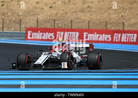 Marseille, France. 21st Jun 2019. FIA Formula 1 Grand Prix of France, practice sessions; Alfa Romeo Racing, Antonio Giovinazzi Credit: Action Plus Sports Images/Alamy Live News - Stock Image