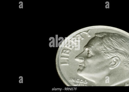 Liberty (Franklin Roosevelt on one dime) - Stock Image