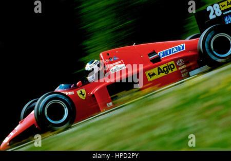 1986 Michele Alboreto Italian Ferrari F186 Osterreichring Austrian GP 2nd - Stock Image