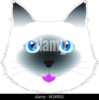cat CG, vector image - Stock Image
