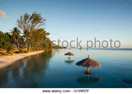 Fakarava in the Tualotu islands (French Polynesia) - Stock Image
