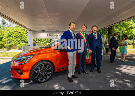 Piedmont Turin - Turin auto show 2019  - Valentino park - personalities visit the stands - Stock Image