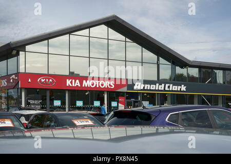 An Arnold Clark KIA Motors car dealership in Liverpool UK - Stock Image