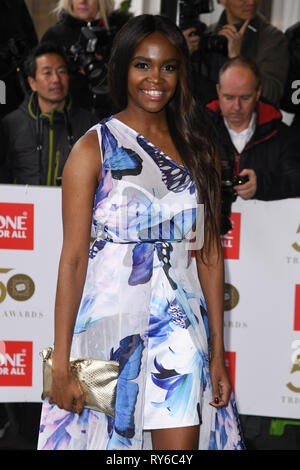 London, UK. 12th Mar, 2019. LONDON, UK. March 12, 2019: Oti Mabuse arriving for the TRIC Awards 2019 at the Grosvenor House Hotel, London. Picture: Steve Vas/Featureflash Credit: Paul Smith/Alamy Live News - Stock Image
