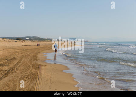 Beach on Costa Blanca between Torre la Mata and Guardamar del Segura Spain - Stock Image