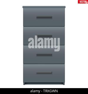 Office Cabinet with drawers - Stock Image