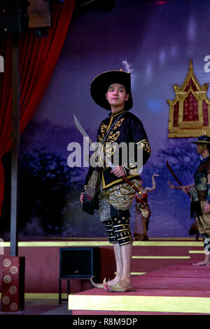 Thailand theatre. Actor on stage. Thai culture show, - Stock Image