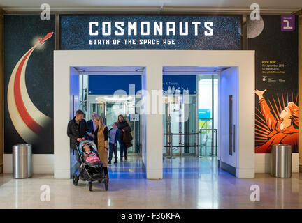 Cosmonauts exhibition inside The Science Museum in London Britain - Stock Image