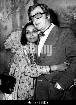 Actor Michael Caine and Guyanese-British model Shakira Baksh in 1972. - Stock Image