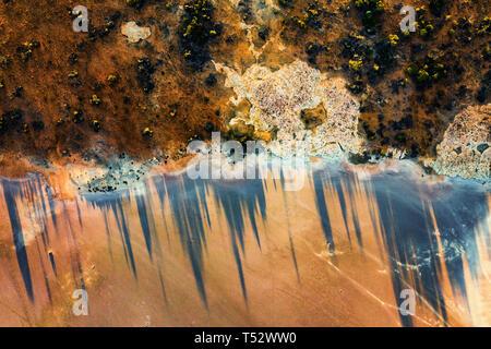 Salt lakes in Western Australia - Stock Image
