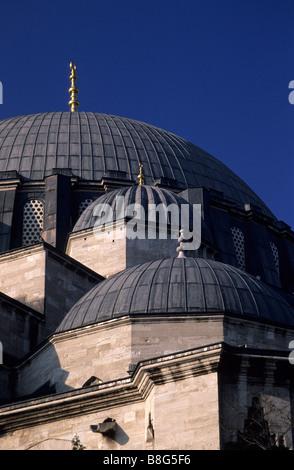 Domes Suleymaniye Camii (Mosque) Turkey - Stock Image