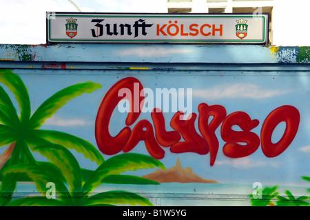 claypso kolsch beer sign berlin germany - Stock Image