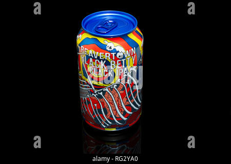 Beavertown Beer Black Betty Black IPA Can - Stock Image