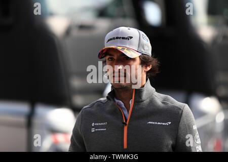 Marseille, France. 21st Jun 2019. FIA Formula 1 Grand Prix of France, practice sessions; McLaren, Carlos Sainz Credit: Action Plus Sports Images/Alamy Live News - Stock Image