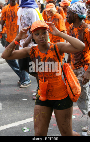 Revelers at the Notting Hill Carnival 2010 - Stock Image