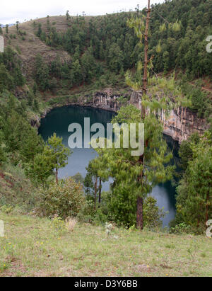 Lake Tritriva, Madagascar, Africa.  A Lake in an Extinct Volcano. - Stock Image