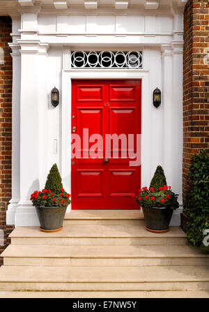 A traditional British front door - Stock Image